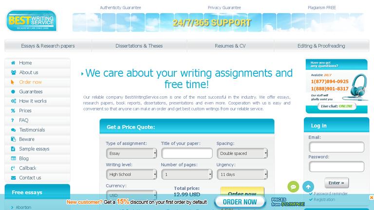 Bestwritingservice com